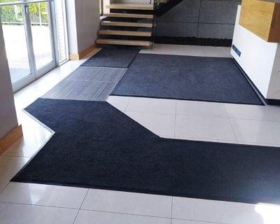 entry carpet custom install