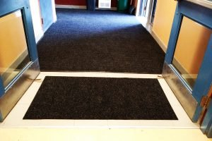 school entrance doormat
