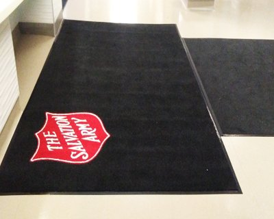 salvation army custom logo entrance mat