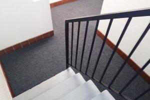 hallway carpet stair exit