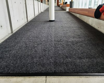 library entrance mat