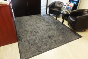 office waiting area carpet mat