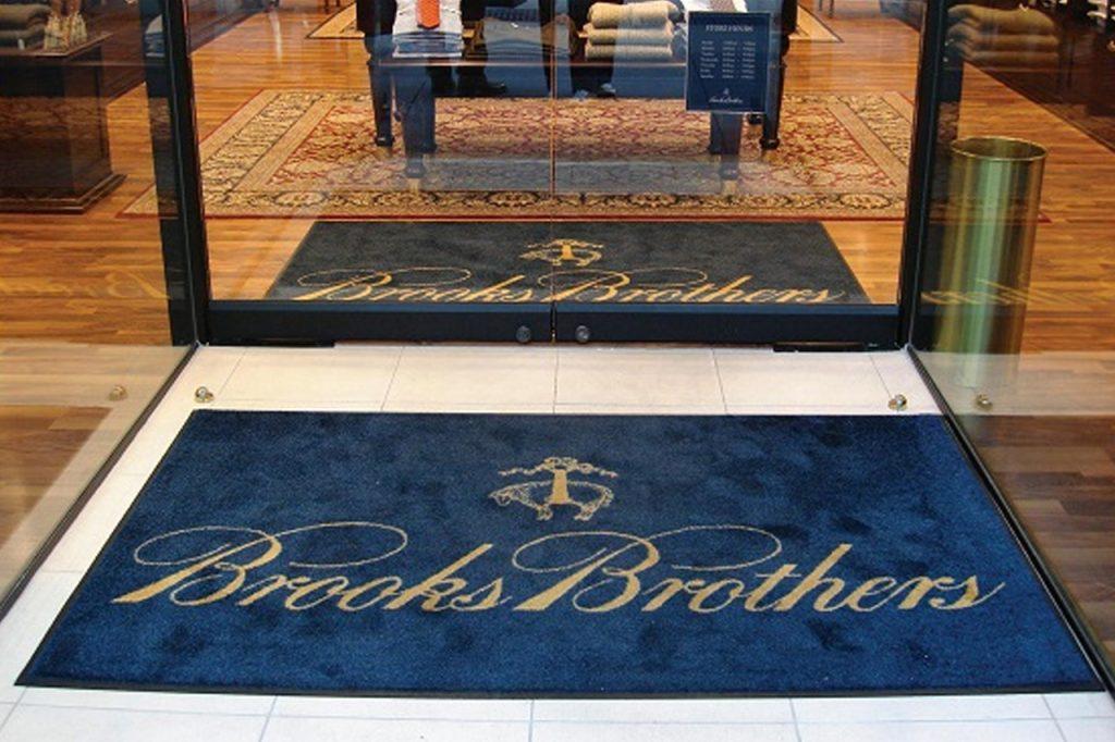 front doormat logo mat